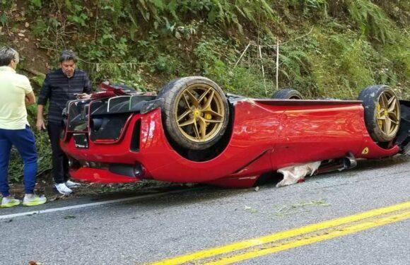 Driver Flips Ferrari 488 on Tail of the Dragon