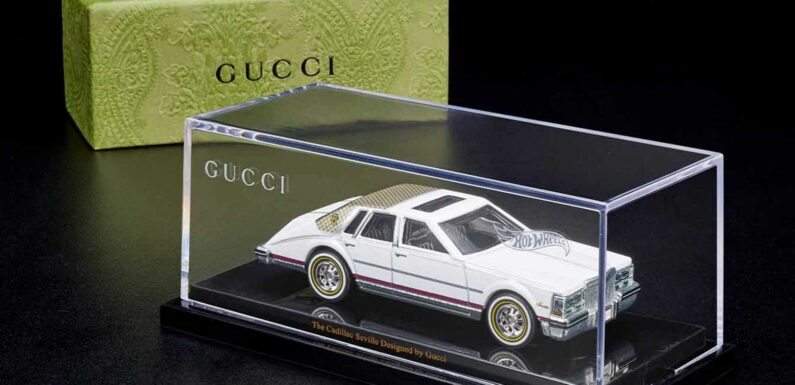 Gucci-Branded Cadillac Seville Hot Wheels Car Costs $120