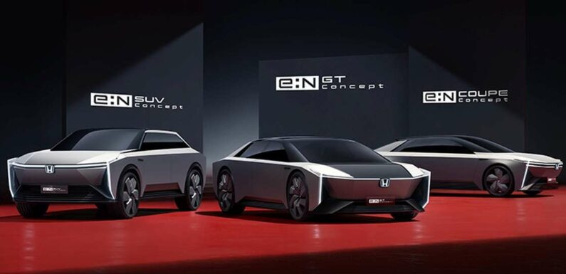 Honda e:N Series EV concepts – five revealed, e:NS1 and e:NP1 crossovers on sale in China from next year – paultan.org