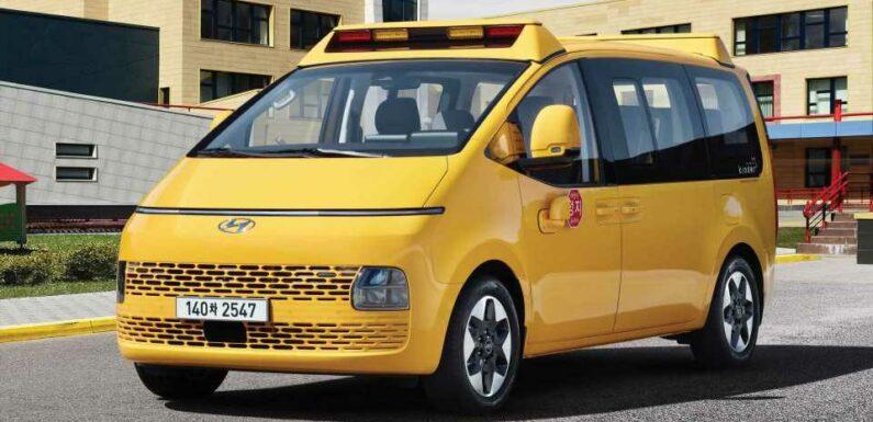 Hyundai Staria Kinder Debuts As World's Best Looking School Bus