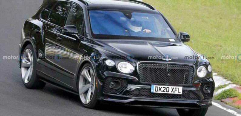 Odd Bentley Bentayga Spied In Black With Small Design Tweaks