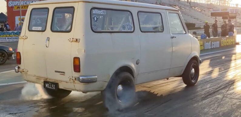 Old Aussie Work Van Gets 1,100 HP Barra Motor and Seating for 7