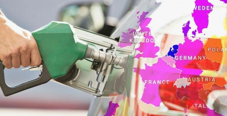 Petrol prices MAP: How much does fuel cost in the UK compared to other European countries?