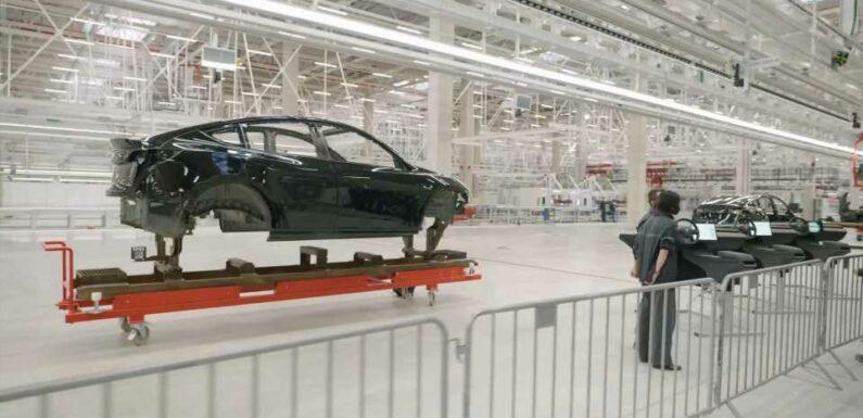 Tesla Giga Berlin: 1 Car Body Every 45 Seconds, Or >600,000/Year